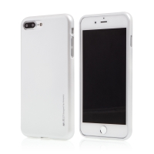 Kryt MERCURY iJelly pro Apple iPhone 7 Plus / 8 Plus - gumový - stříbrný - matný