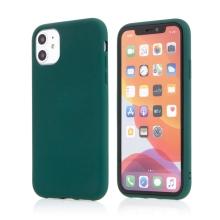 Kryt pro Apple iPhone 11 - příjemný na dotek - silikonový - lesně zelený