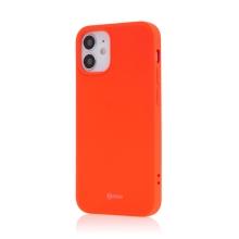 Kryt ROAR pro Apple iPhone 12 mini - gumový - broskvově oranžový