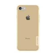 Kryt NILLKIN Nature pro Apple iPhone 7 / 8 / SE (2020) - gumový - průsvitný / zlatý