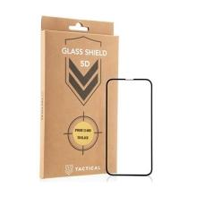 Tvrzené sklo (Tempered Glass) Tactical pro Apple iPhone 13 mini - černý rámeček - 5D