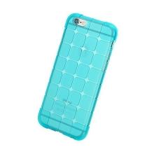 Gumový kryt ROCK pro Apple iPhone 6 Plus / 6S Plus - 3D kostky - průhledný - světle modrý