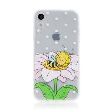 Kryt včelka Mája - pro Apple iPhone - Xr - gumový - průhledný - zasněná Mája