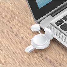 Bezdrátová nabíječka USAMS pro Apple Watch - mini provedení - plast / silikon - bílá