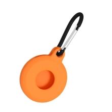 Kryt / obal pro Apple AirTag - kovová karabina - silikonový - oranžový