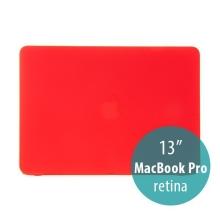 Obal / kryt pro Apple MacBook Pro 13 Retina (model A1425, A1502) - tenký - plastový - matný - červený