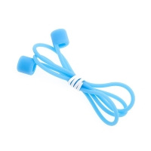 Šňůrka / úchyt pro Apple AirPods - svítící ve tmě - silikonová - modrá