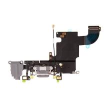 Napájecí a datový konektor s flex kabelem + audio konektor + GSM anténa + mikrofony pro Apple iPhone 6S - šedý - kvalita A+