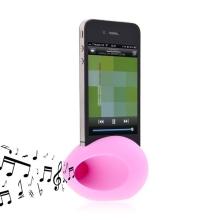 Hudební zesilovací vajíčko a stojan pro Apple iPhone 4 / 4S - růžový