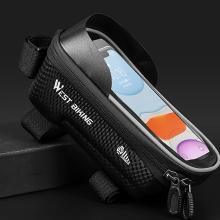 Sportovní pouzdro na kolo WEST BIKING pro Apple iPhone včetně velikostí Plus a Max - černé