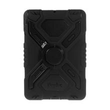 Odolné plasto-silikonové pouzdro se stojánkem a přední ochrannou vrstvou pro Apple iPad mini / mini 2 / mini 3 - černé