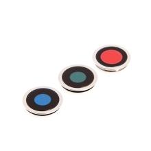 Krycí sklíčka zadní kamery Apple iPhone 11 Pro / 11 Pro Max - sada 3ks - stříbrná (Silver) - kvalita A+