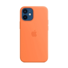 Originální kryt pro Apple iPhone 12 mini - silikonový - kumkvátově oranžový