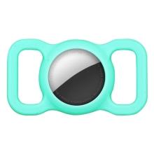 Kryt pro Apple AirTag - spona na batoh / psí obojek - silikonový - mátově zelený