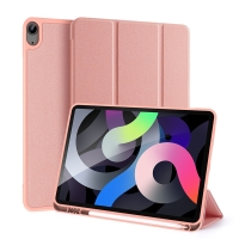 Pouzdro DUX DUCIS Domo pro Apple iPad Air 4 (2020) - stojánek - růžové