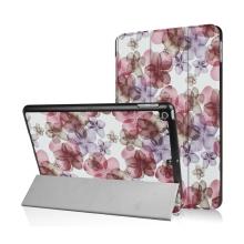 Pouzdro / kryt pro Apple iPad 9,7 (2017-2018) - funkce chytrého uspání + stojánek - fialové květiny