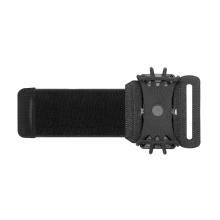 Sportovní držák / pouzdro pro Apple iPhone - látkové / silikonové - pásek na ruku - černé