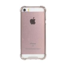 Kryt pro Apple iPhone 5 / 5S / SE - zesílené rohy - plastový / gumový - průhledný / šedý