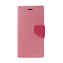 Pouzdro Mercury Fancy Diary pro Apple iPhone Xr - stojánek a prostor na doklady - růžové