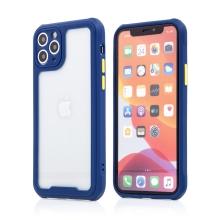 Kryt pro Apple iPhone 11 Pro - plastový / gumový - přesné výřezy fotoaparátu - modrý