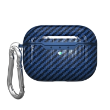 Pouzdro / obal pro Apple AirPods Pro - karbonová textura - gumové - modré