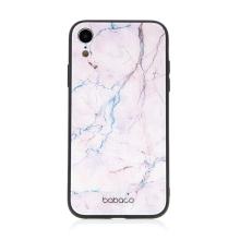 Kryt BABACO pro Apple iPhone Xr - skleněný - růžový mramor