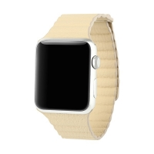 Řemínek BASEUS pro Apple Watch 44mm Series 4 / 5 / 42mm 1 2 3 - magnetický - béžový
