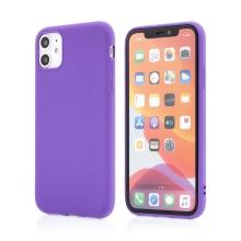 Kryt pro Apple iPhone 11 - matný - gumový - fialový