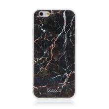 Kryt BABACO pro Apple iPhone 6 / 6S - gumový - černý mramor