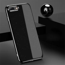 Kryt USAMS Starry pro Apple iPhone 7 Plus / 8 Plus - lesklé třpytky - plastový - černý / stříbrný