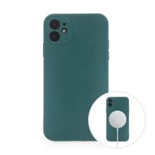 Kryt pro Apple iPhone 11 - MagSafe magnety - silikonový - lesně zelený