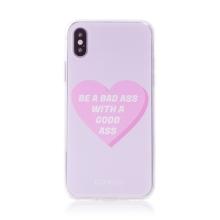 "Kryt BABACO pro Apple iPhone X / Xs - gumový - srdce "" zlobivá holka"""