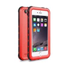 Pouzdro RedPepper Dot+ pro Apple iPhone 5 / 5S / SE - voděodolné - plastové - černé / červené