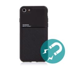 Kryt pro Apple iPhone 7 / 8 / SE (2020) - vestavěný plíšek pro držáky - plastový / gumový - černý