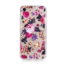 Kryt pro Apple iPhone 7 / 8 gumový - průhledný / růže