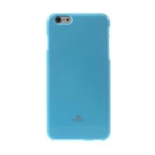 Kryt Mercury Goospery pro Apple iPhone 6 Plus / 6S Plus gumový - světle modrý s třpytivými prvky