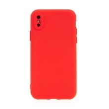 Kryt pro Apple iPhone X / Xs - příjemný na dotek - silikonový - červený