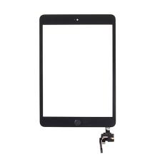 Dotykové sklo (touch screen) s IC konektorem a flex s Home Buttonem pro Apple iPad mini 3 - černé - kvalita A