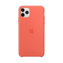 Originální kryt pro Apple iPhone 11 Pro Max - silikonový - oranžový