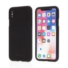 Kryt MERCURY Soft feeling pro Apple iPhone X / Xs - gumový - černý