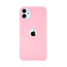 Kryt pro Apple iPhone 11 - gumový - příjemný na dotek - s výřezem pro logo - růžový