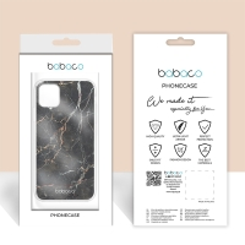 Kryt BABACO pro Apple iPhone 5 / 5S / SE - gumový - černý mramor