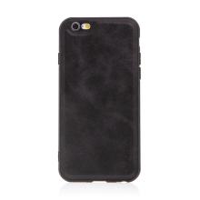 Kryt pro Apple iPhone 6 / 6S - umělá kůže / gumový - černý
