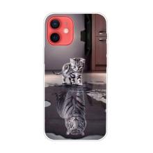 Kryt pro Apple iPhone 13 mini - gumový - odraz tygra