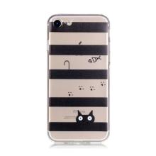 Kryt pro Apple iPhone 7 / 8 gumový - průhledný / kočičí svět