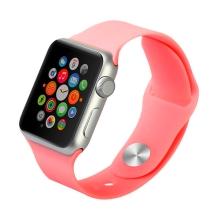 Řemínek BASEUS pro Apple Watch 44mm Series 4 / 5 / 42mm 1 2 3 - silikonový - růžový