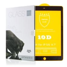 """Tvrzené sklo (Tempered Glass) pro Apple iPad Air 1 / 2 / Pro 9,7"""" / 9,7"""" (2017-2018) - 2,5D - černý rámeček - čiré"""