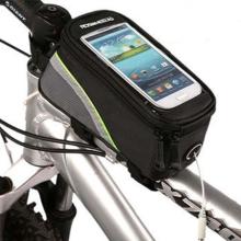 Sportovní pouzdro na kolo ROSWHEEL pro Apple iPhone 6 / 6S / 7 / 8 / X - černé / zelené