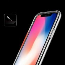 Kryt USAMS pro Apple iPhone X - vroubkovaný - plastový / gumový - průhledný / černý