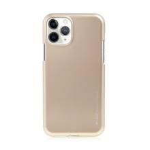 Kryt MERCURY iJelly pro Apple iPhone 11 Pro Max- gumový - matný - zlatý